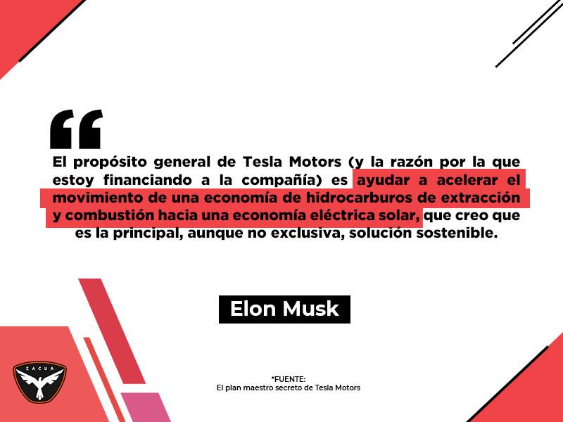 Tesla: entre propósitos e historia cita elon musk