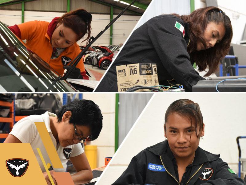 mujeres que trabajan con el zacua